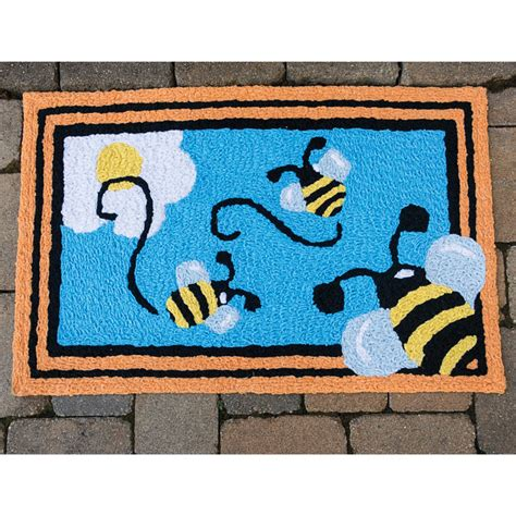 bee rug busy bee indoor outdoor rug brecksgifts