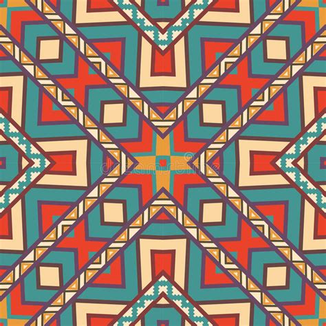 aztec pattern drawings color seamless colorful aztec pattern stock vector