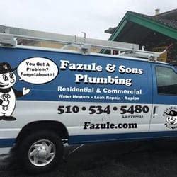Plumbing Oakland Ca fazule sons plumbing 75 reviews plumbers 3000 macarthur blvd lower oakland ca
