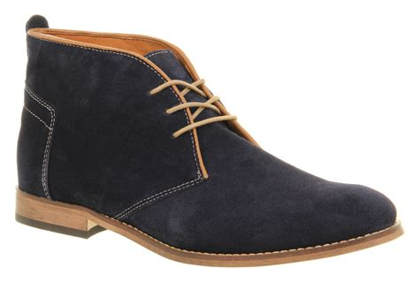 mens blue boots mens h by hudson vasa casual navy blue suede lace up