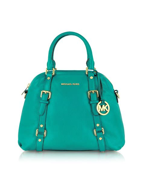 Michael Kors Satchel Bag michael kors bedford genuine leather bowling satchel bag in blue lyst