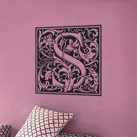 fancy monogram family name wall decal sticker graphic