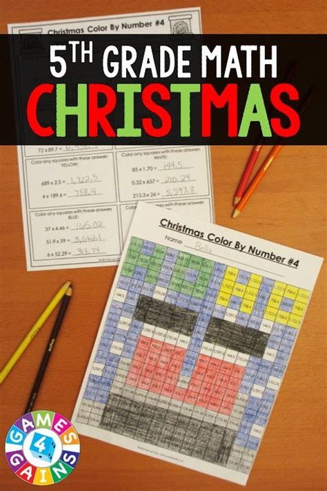 5th grade christmas activities 5th grade christmas math