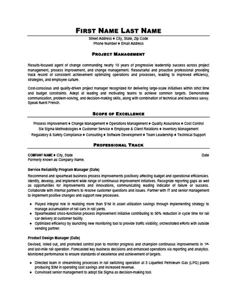Resume Templates 101 by Project Manager Resume Template Premium Resume Sles