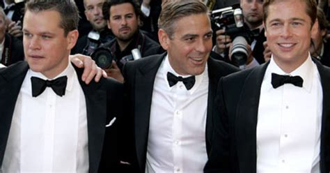 george clooney and matt damon george clooney brad pitt matt damon are quot