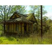 Abandoned Train Station South Of Nacogdoches Texas USA