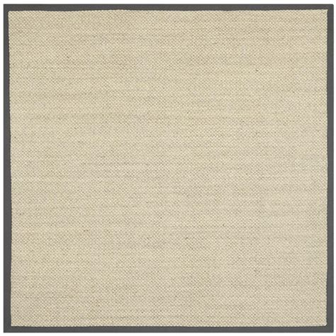 Square Area Rugs 9 X 9 Safavieh Fiber Marble Grey 9 Ft X 9 Ft Square Area Rug Nf443b 9sq The Home Depot