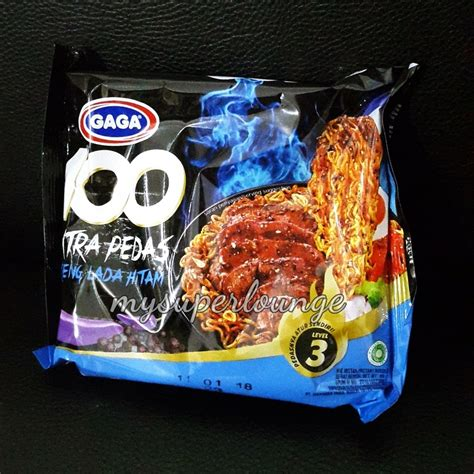Minyak Goreng Gaga mie gaga 100 pedas goreng lada hitam dan jalapeno mysuperlounge