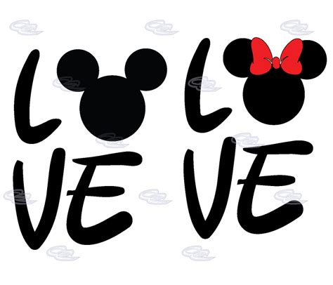 Sticker Wall Quotes mickey minnie couple shirts love with mickey head shirts