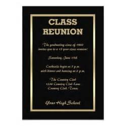 class reunion invites classic black invites 5 quot x 7 quot invitation card zazzle