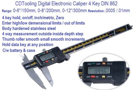 Calliper Digital 6 Sigmat Digital 6 0 150mm electronic digital caliper 4 key 0 6 carbide and tooling