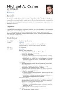 ux designer resume sles visualcv resume sles database