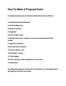 8 how to make a proposal procedure template sample