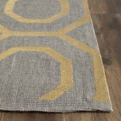 Patio Wall Decorations Columbus Circle Hand Loomed Grey Gold Area Rug Wayfair