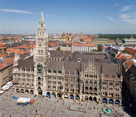 in munich germany munich airport to glockenspiel at marienplatz munich