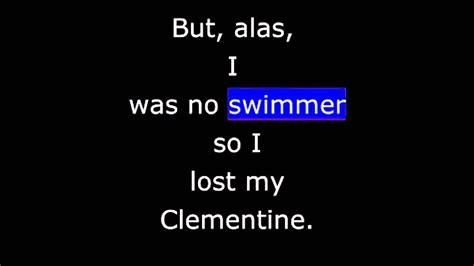 clementine lyrics songs oh my darlin clementine doovi