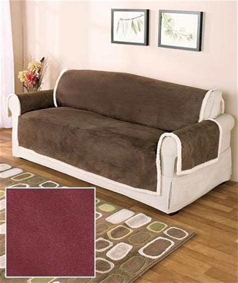 who sells couch covers microsuede and sherpa protective furniture sofa love seat