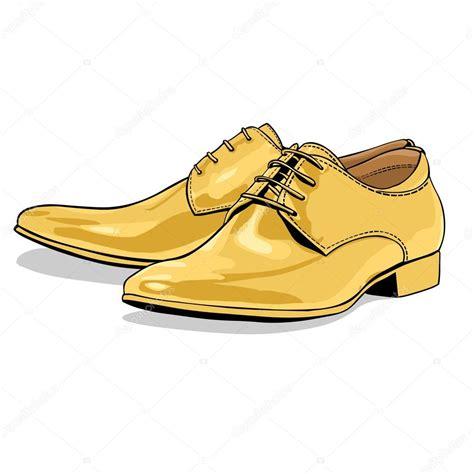 imagenes vectoriales de zapatos vector de dibujos animados los hombres cl 225 sicos amarillo