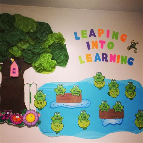 Decoration Of Montessori Classes by Quot Leaping Into Learning Quot Toddler Classroom Decorations