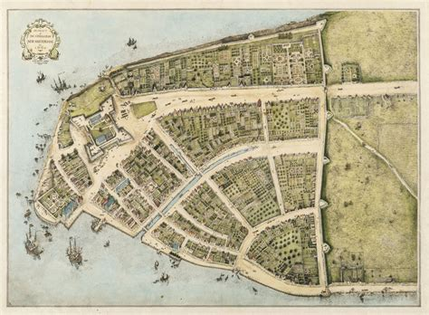 map of manhattan island when wall was a wall a 1660 map of manhattan