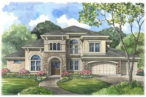 5 Bedroom House by Mediterranean Home Plan 5 Bedrms 5 5 Baths 4486 Sq Ft