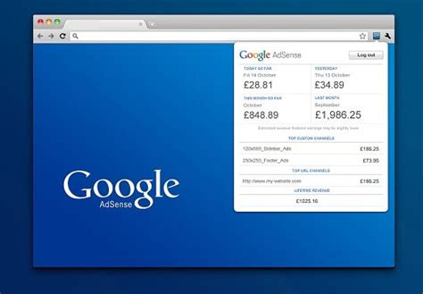 google chrome top bar check real time adsense earning using adsense publisher toolbar