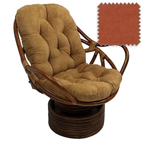 bali rattan papasan swivel rocker with cushion solid
