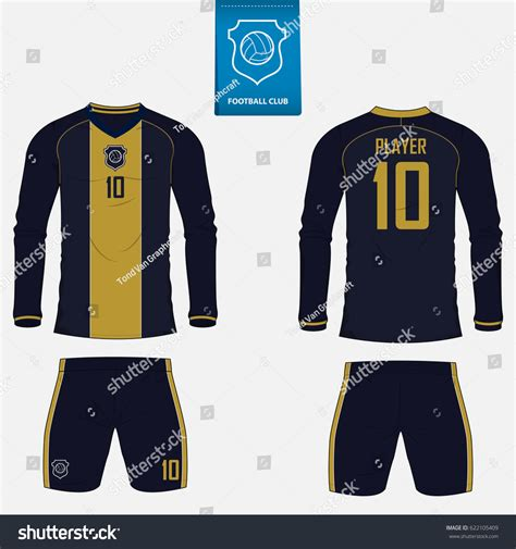 football jersey design vector set soccer kit football jersey template stock vector