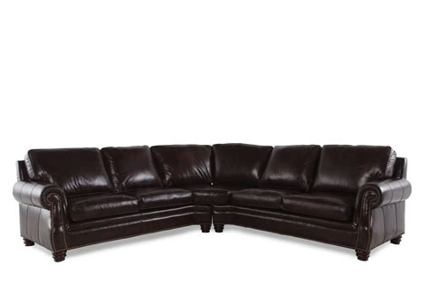 2 piece leather sectional henredon two piece leather sectional mathis brothers