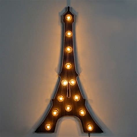 light up eiffel tower marquee eiffel tower light up sign bed bath beyond