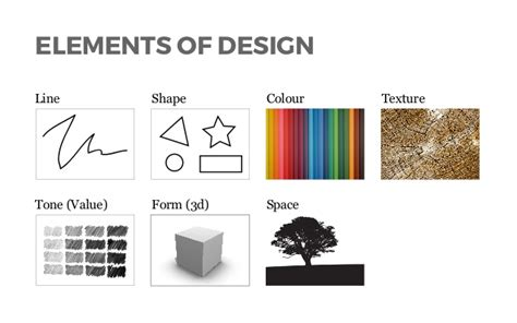 design elements form and space lines shapes in visual composition