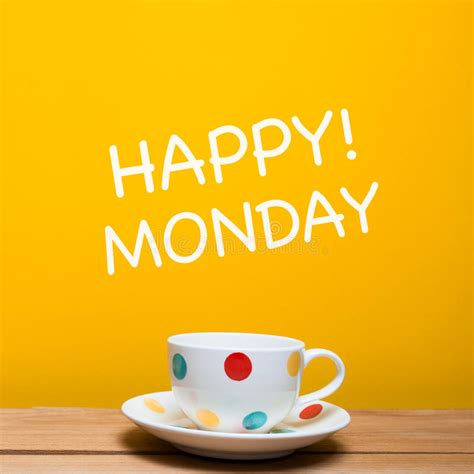 More On Monday Blue Shoes And Happiness By Mccall Smith by Happy Monday Word With Coffee Cup Stock Photo Image Of