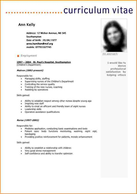 Job Resume Format In Pdf by Cv Model Francais Cv Gratuit T 233 L 233 Charger Moto Bip