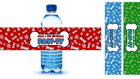 printable paw patrol party decorations paw patrol party drink labels personalized partygamesplus