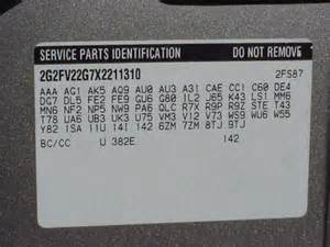 Pontiac Rpo Codes Gm How To Tell If An 08 Cts Has A Limited Slip