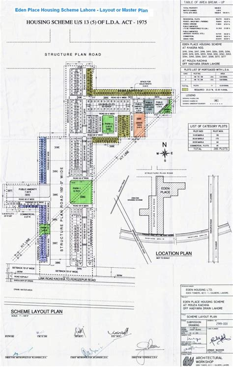 layout min js eden place housing scheme lahore master and location