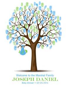 baby shower thumbprint tree guest book alternative baby