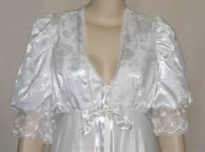wedding peignoir sets vintage tosca peignoir nightgown robe set small wedding white