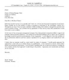 cover letter new resume exle property management cover letter exles