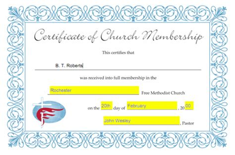 new member certificate template church membership certificate template free quotes