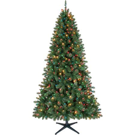 time pre lit 7 duncan fir set artificial tree multi color lights
