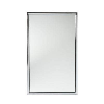 Bathroom Mirrors At Home Depot Home Decorators Collection Vogue 22 In W X 36 In H Chrome Metal Console Framed Wall Mirror
