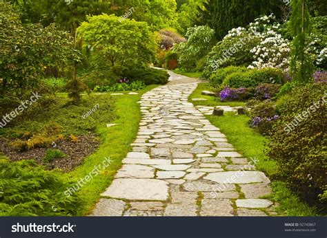 Search On Path Path In Japanese Garden Stock Photo 92740867