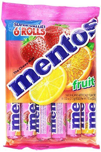 Mentos Roll Strawberry 1 32 Ounce mentos chewy mint roll fruit 1 32 ounce 14 pieces