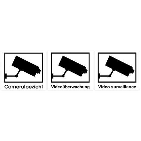 Sticker Camerabewaking Bestellen by Camerabewaking Stickers Toezichtstickers Label Co