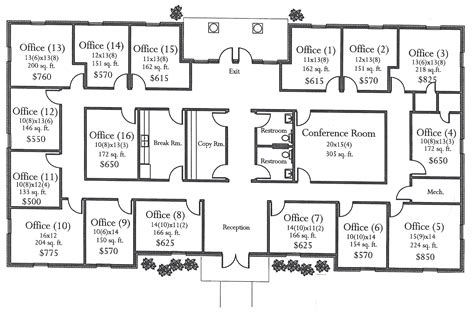 house plans with office medical office building floor plans house plans