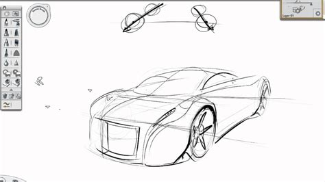 sketchbook car tutorial basic perspective car sketch tutorial youtube