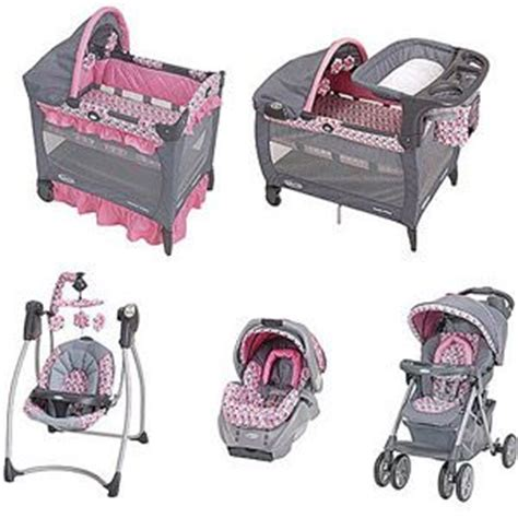 graco pink and brown swing graco ally collection baby gear bundle like only the
