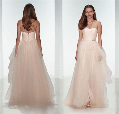 elegant 2015 light tulle wedding dresses