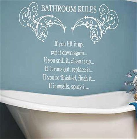 bathroom rules decal bathroom rules decal wall art vinyl lettering decal wall